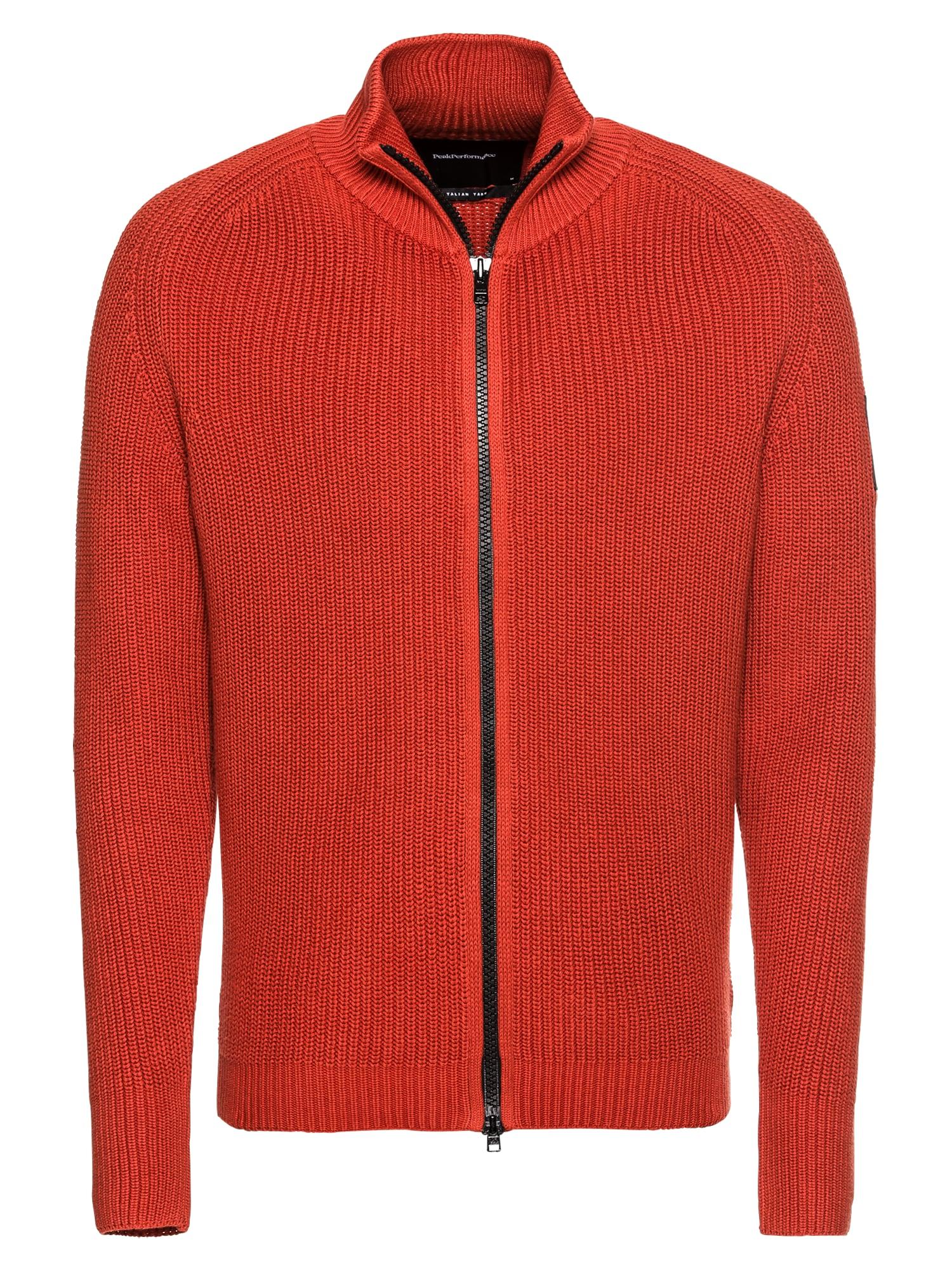 Kardigan CURTIS ZIP Pullover červená PEAK PERFORMANCE