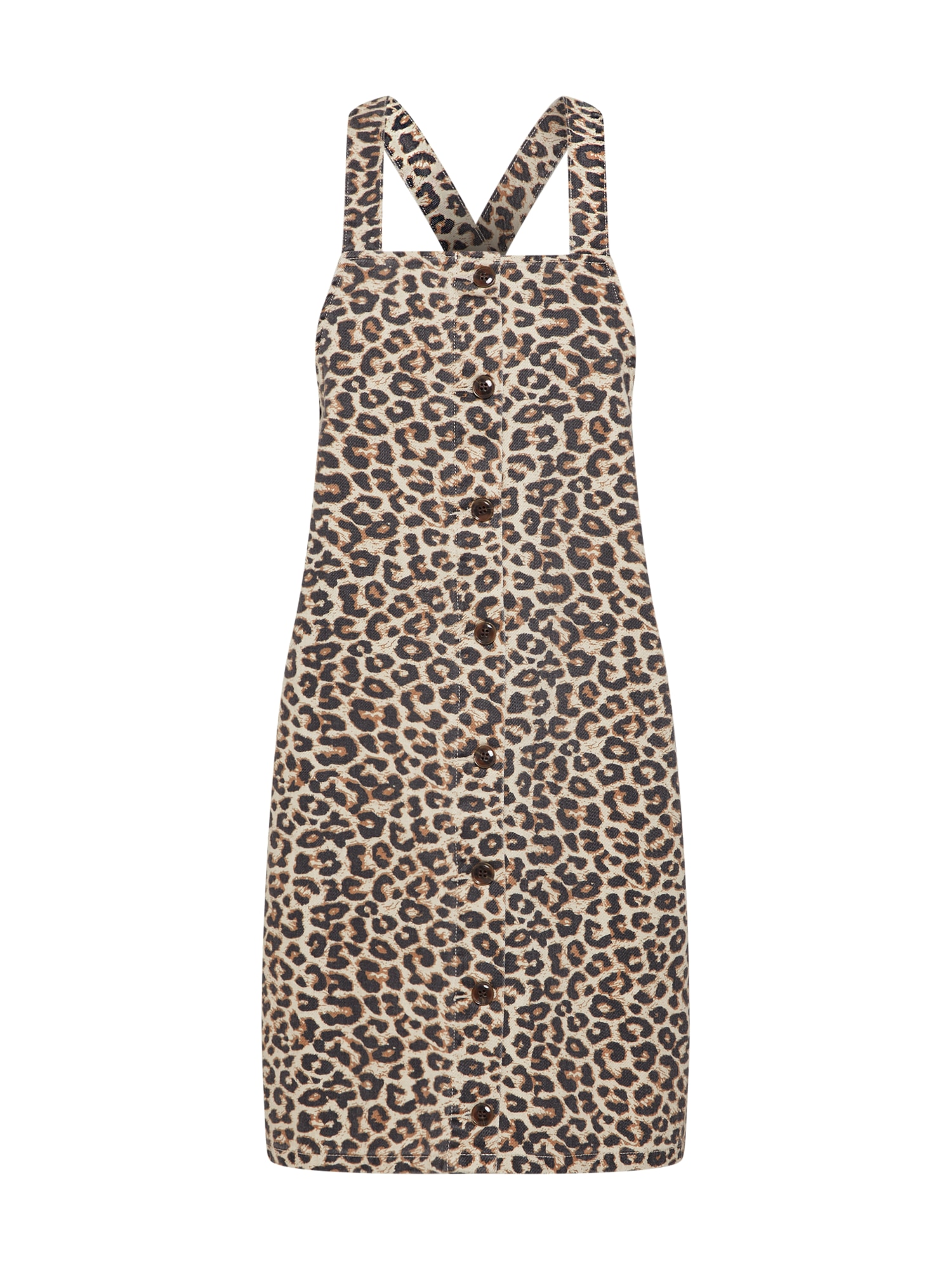 Laclová sukně PCSKY PINAFORE béžová tmavě hnědá PIECES