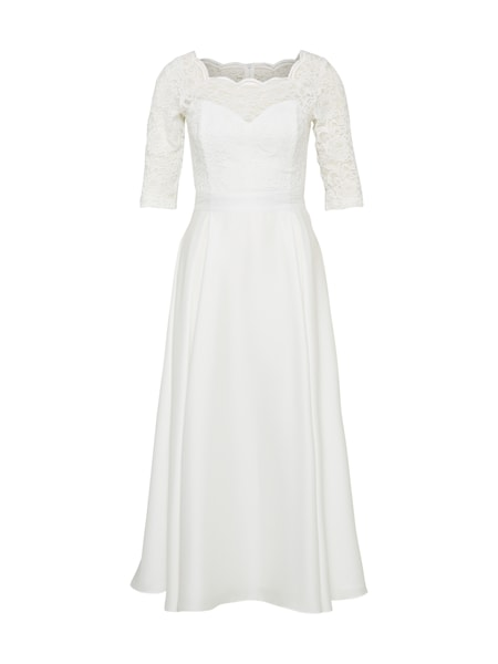 Festtagsmode für Frauen - SWING Abendkleid creme  - Onlineshop ABOUT YOU