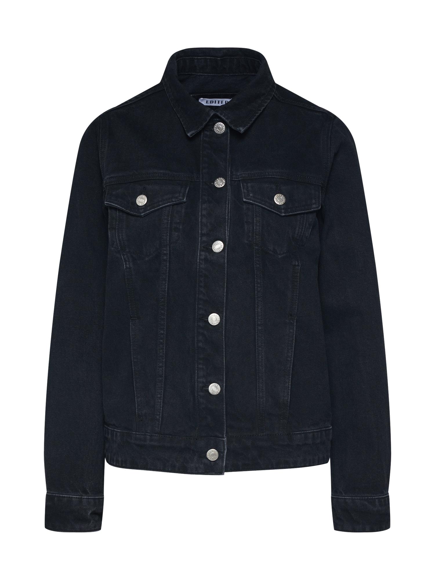 EDITED Demisezoninė striukė 'Freja' juodo džinso spalva