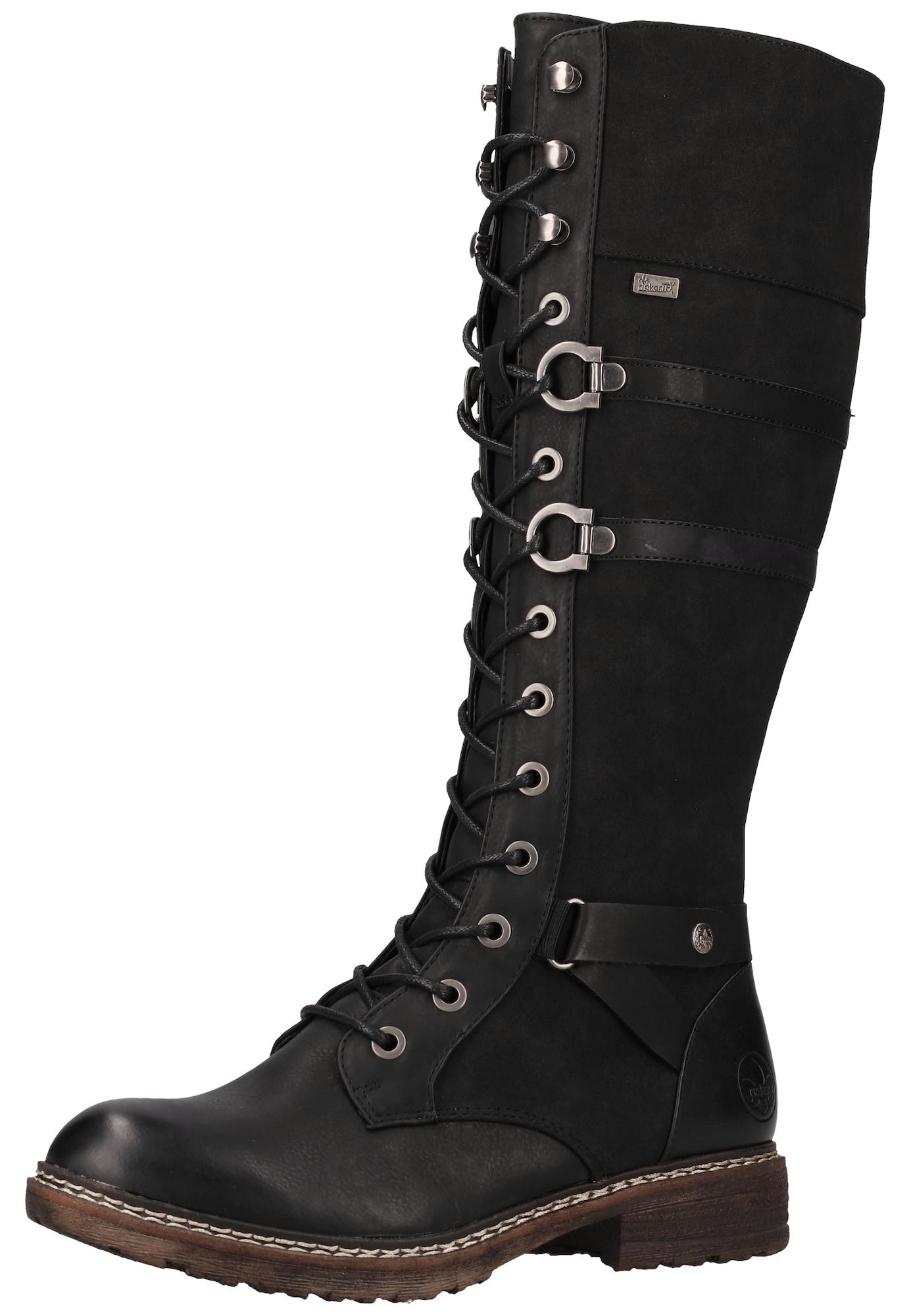 RIEKER Suvarstomieji batai juoda