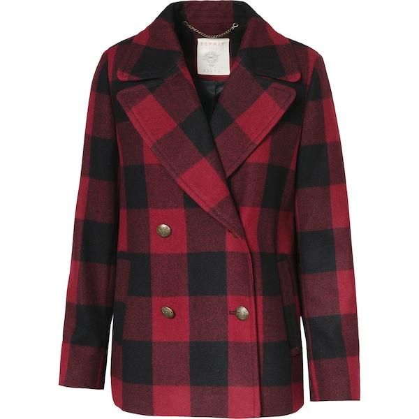 Jacken für Frauen - ESPRIT Wolljacke rot schwarz  - Onlineshop ABOUT YOU