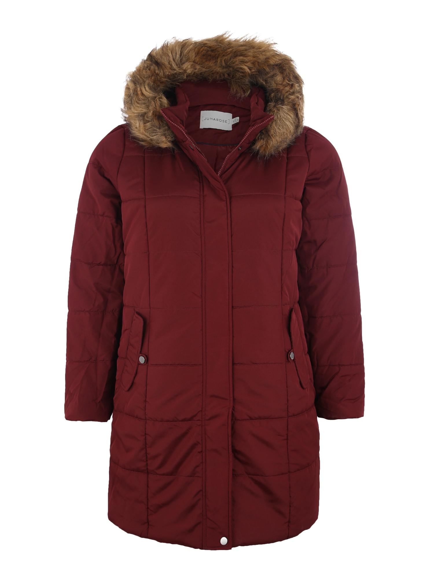 Junarose Žieminis paltas ugnies raudona
