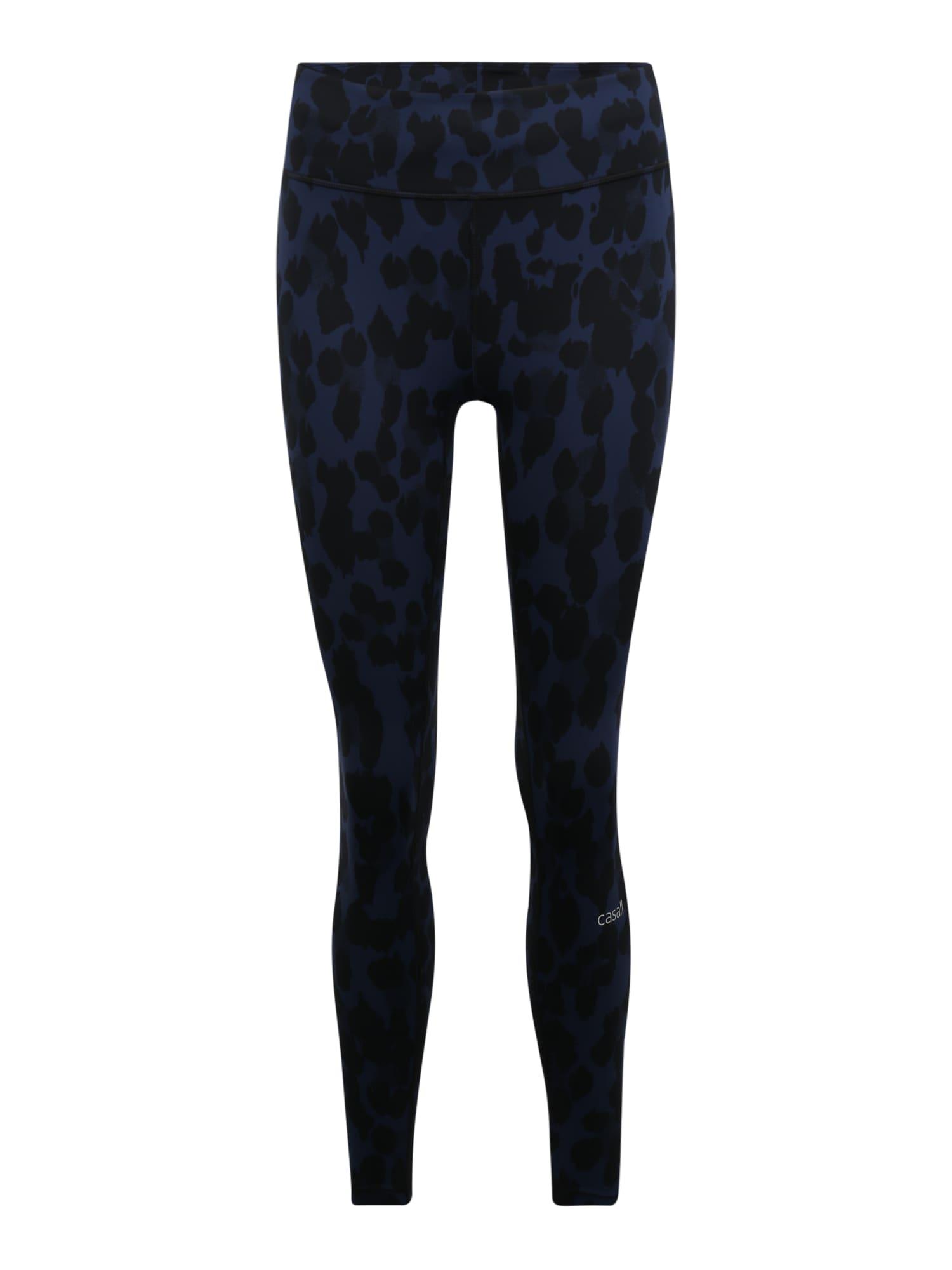 Casall Sportinės kelnės 'Iconic Pure ' juoda / tamsiai mėlyna