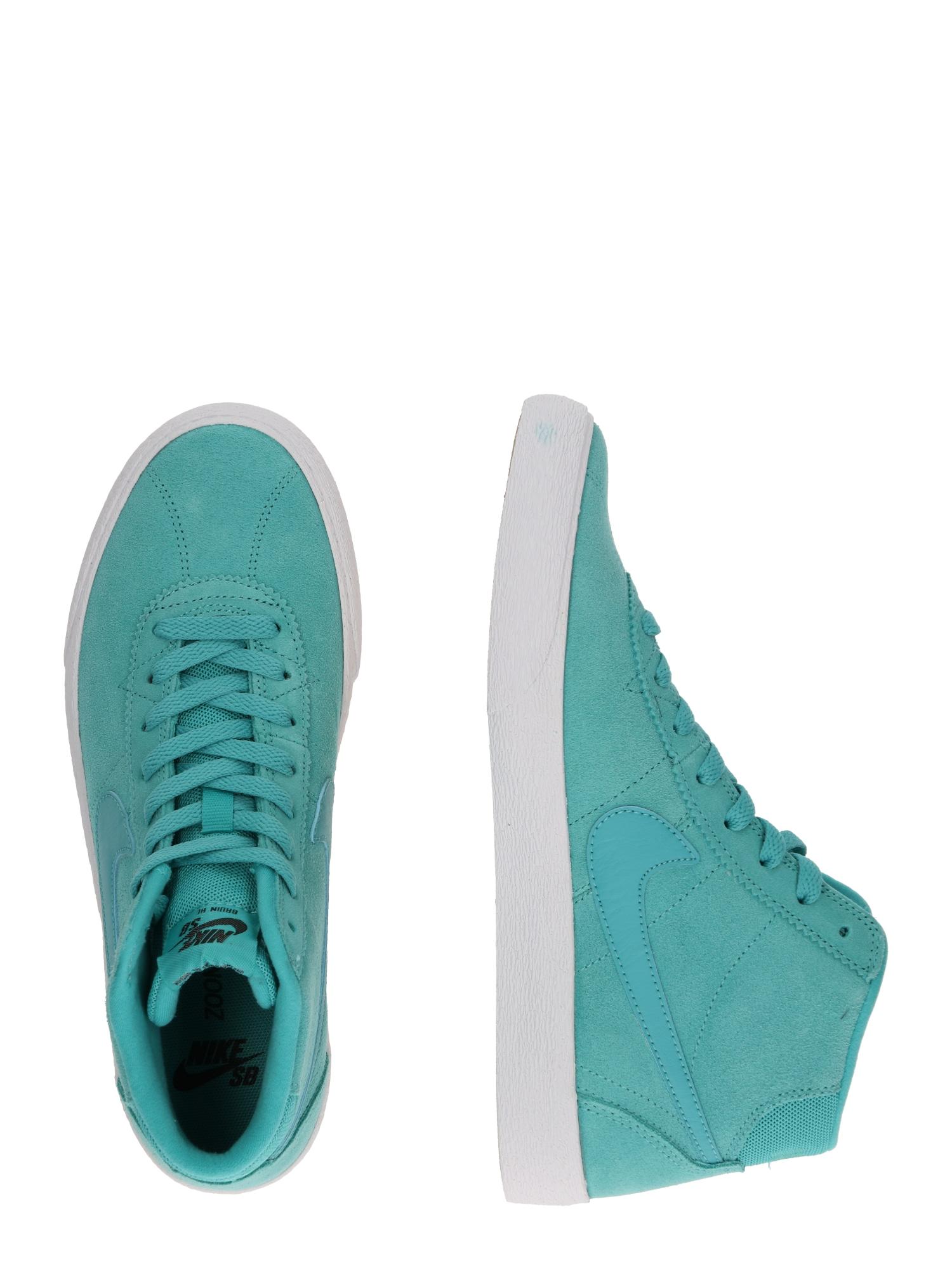 Nike SB, Damen Sneakers hoog Nike SB Bruin Hi Skateboarding Shoe, blauw / turquoise