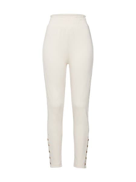 Hosen - Hose 'RIB JOGGERS' › Missguided › naturweiß  - Onlineshop ABOUT YOU
