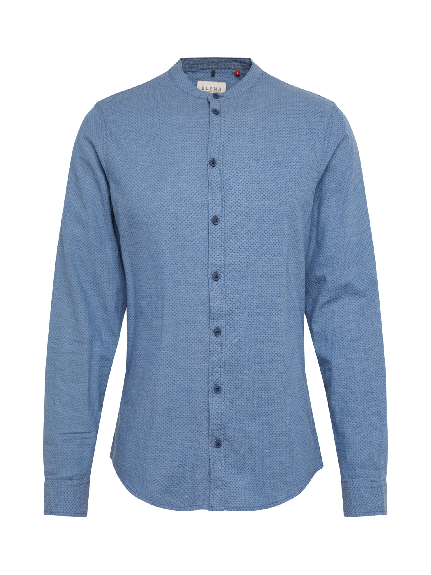 BLEND Marškiniai mėlyna dūmų spalva / tamsiai mėlyna