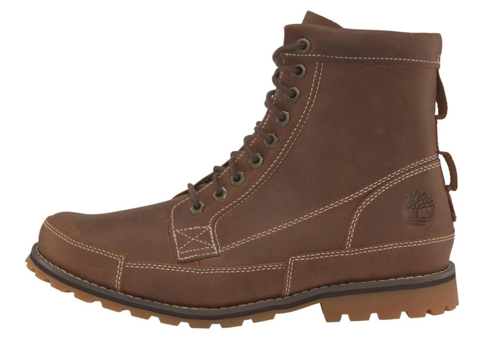 TIMBERLAND Auliniai batai su raišteliais ruda