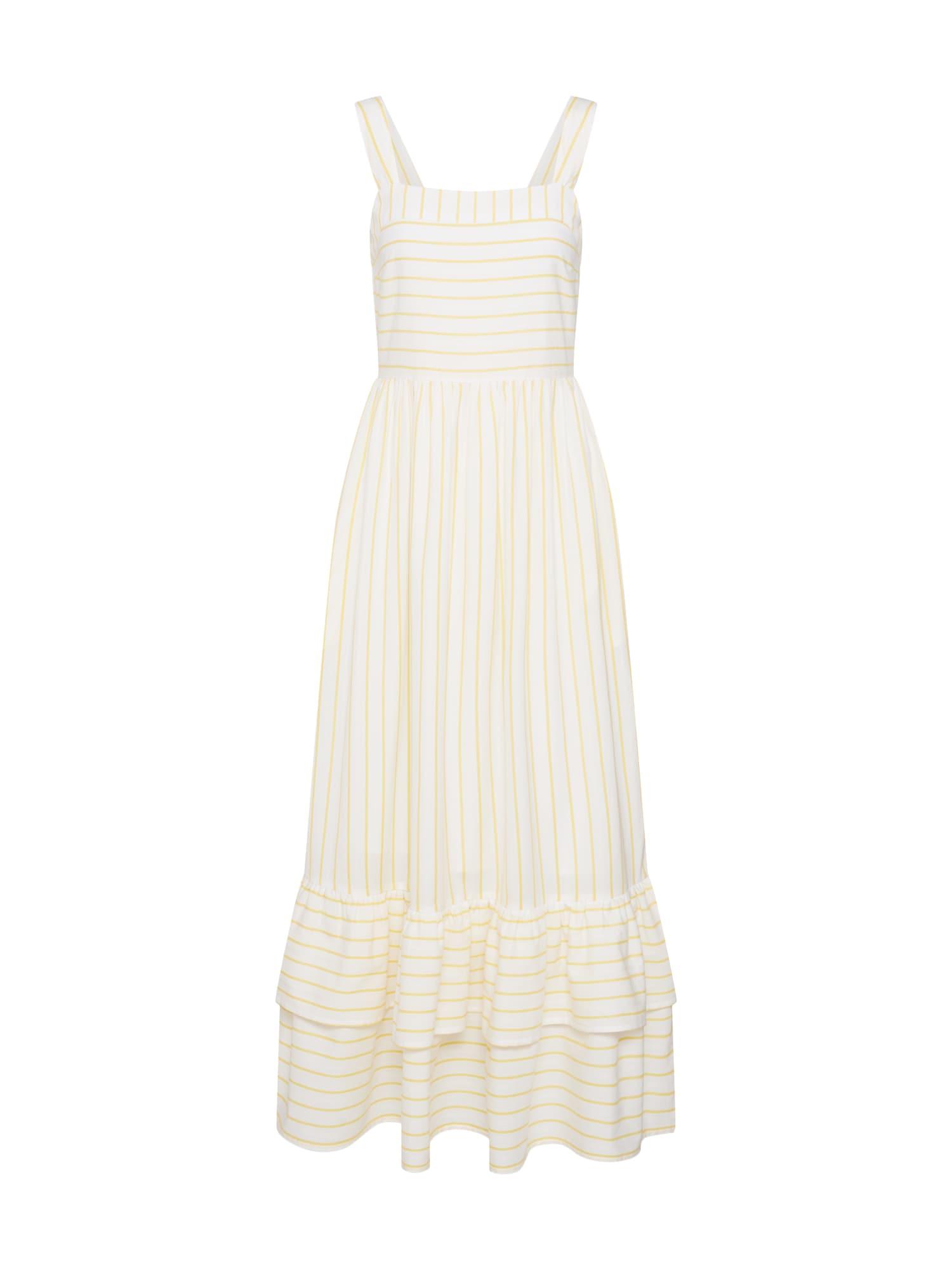 Letní šaty FINA žlutá bílá Y.A.S