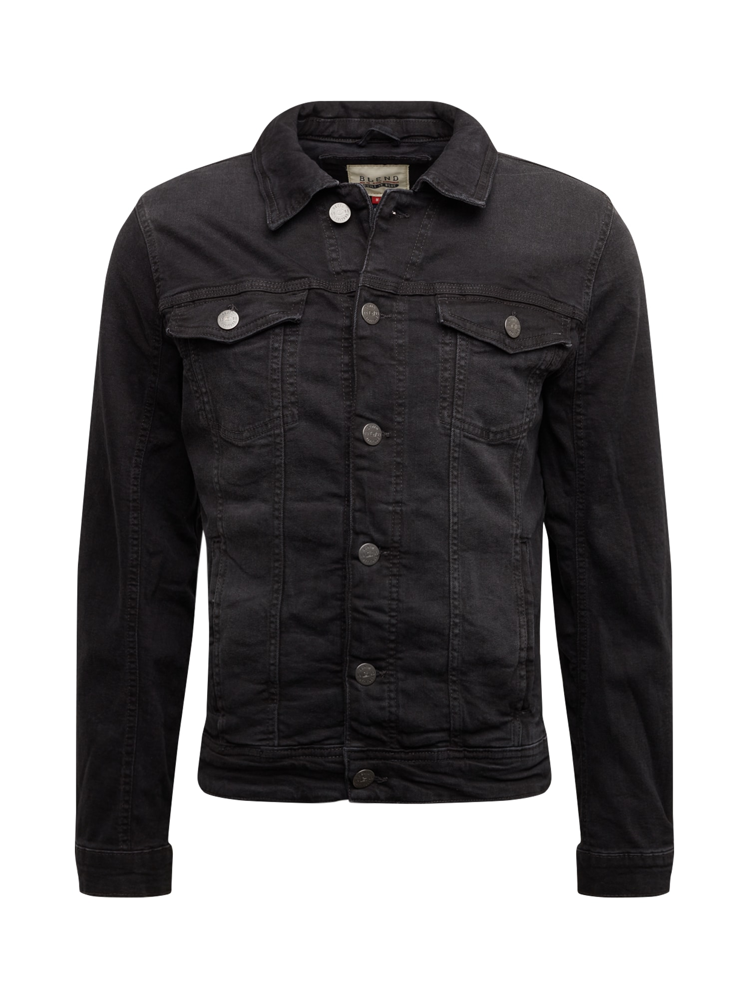 BLEND Demisezoninė striukė juodo džinso spalva