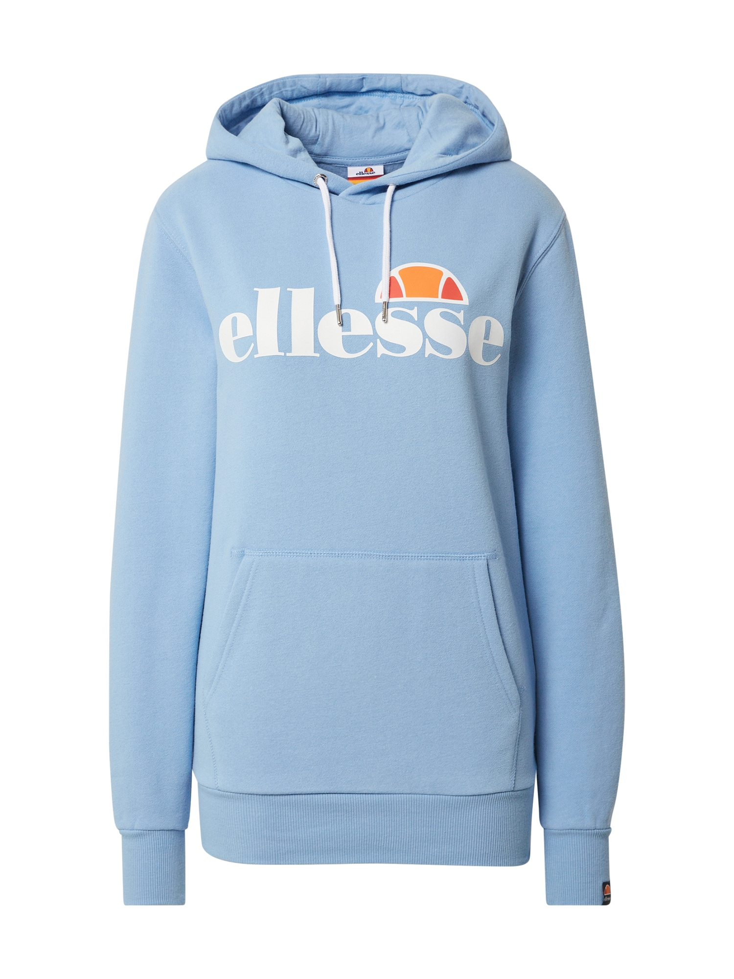 ELLESSE Megztinis be užsegimo 'Torices Hoody' balta / oranžinė / šviesiai mėlyna