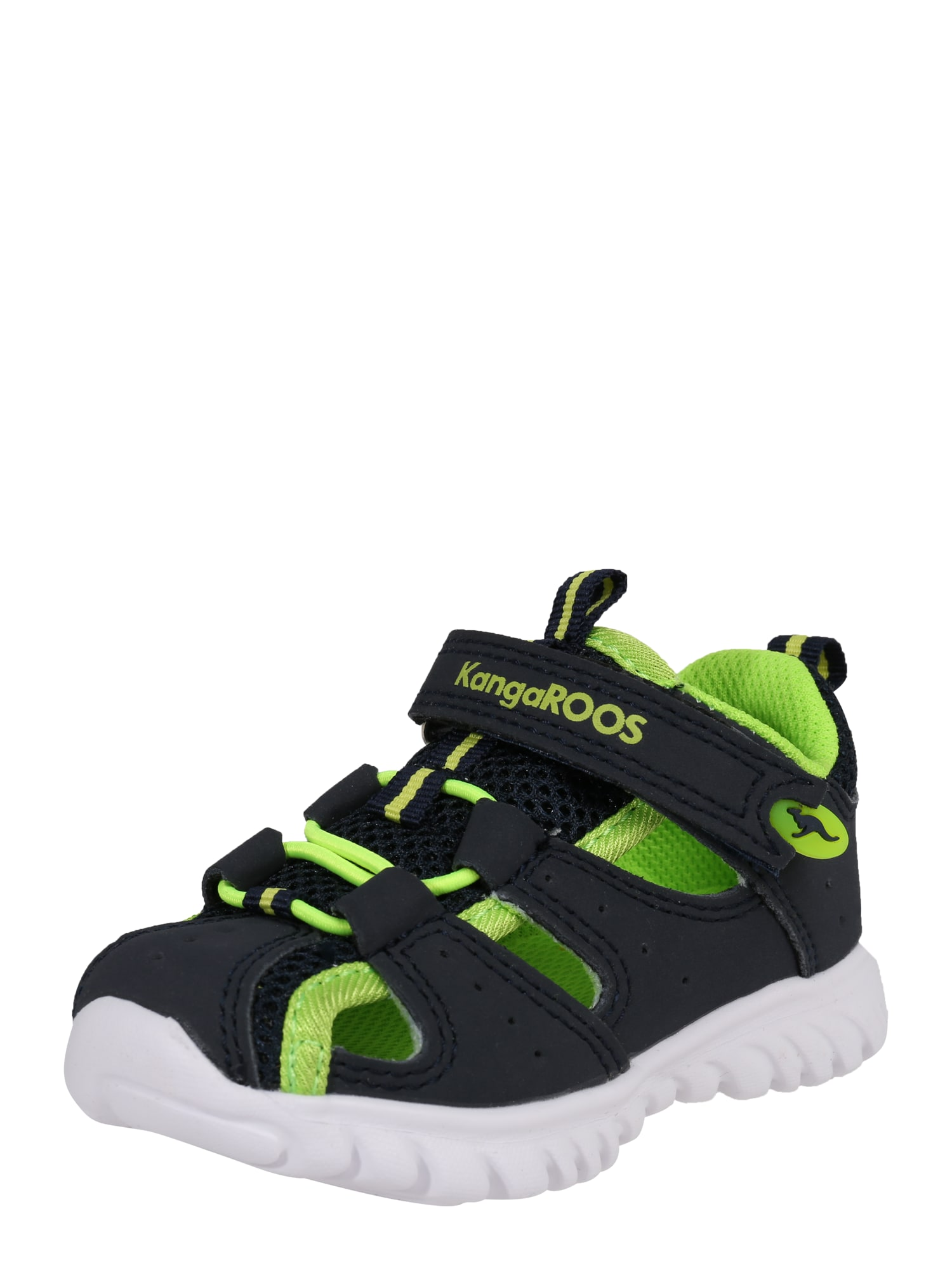 Polobotky Rock lite svítivě zelená černá bílá KangaROOS