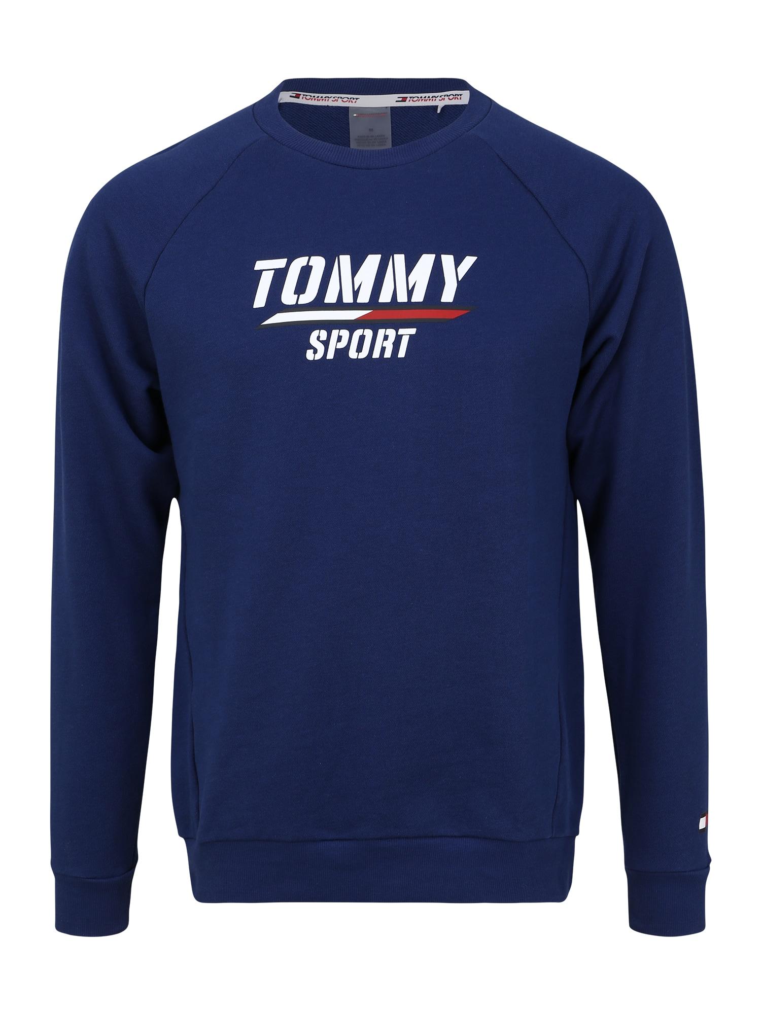Tommy Sport Sportinio tipo megztinis balta / mėlyna