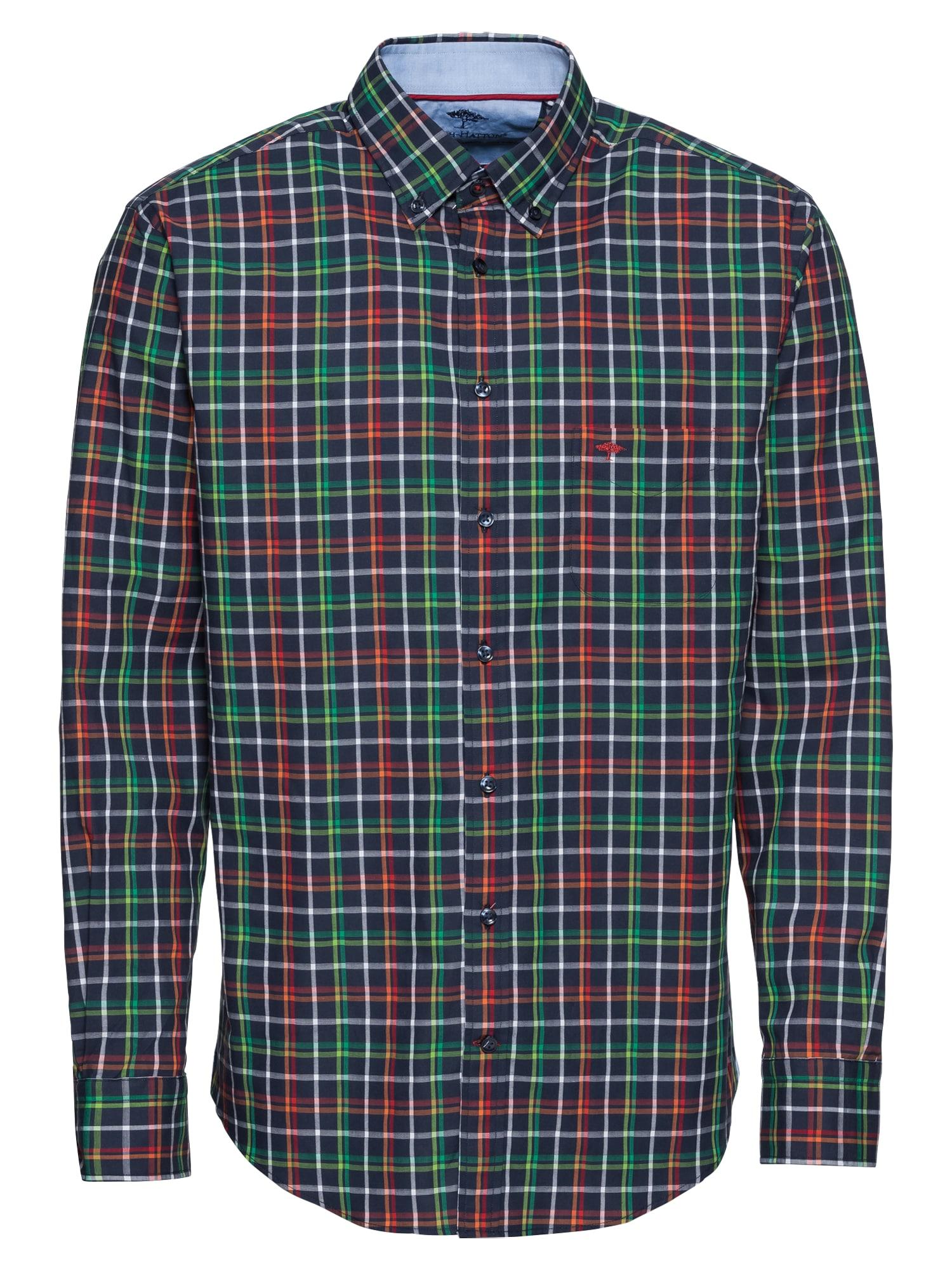 Košile sleeve casual fit tmavě modrá zelená červená FYNCH-HATTON