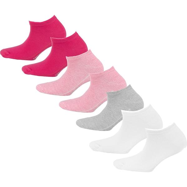 Socken für Frauen - Sneakersocken › Camano › hellgrau hellpink dunkelpink weiß  - Onlineshop ABOUT YOU