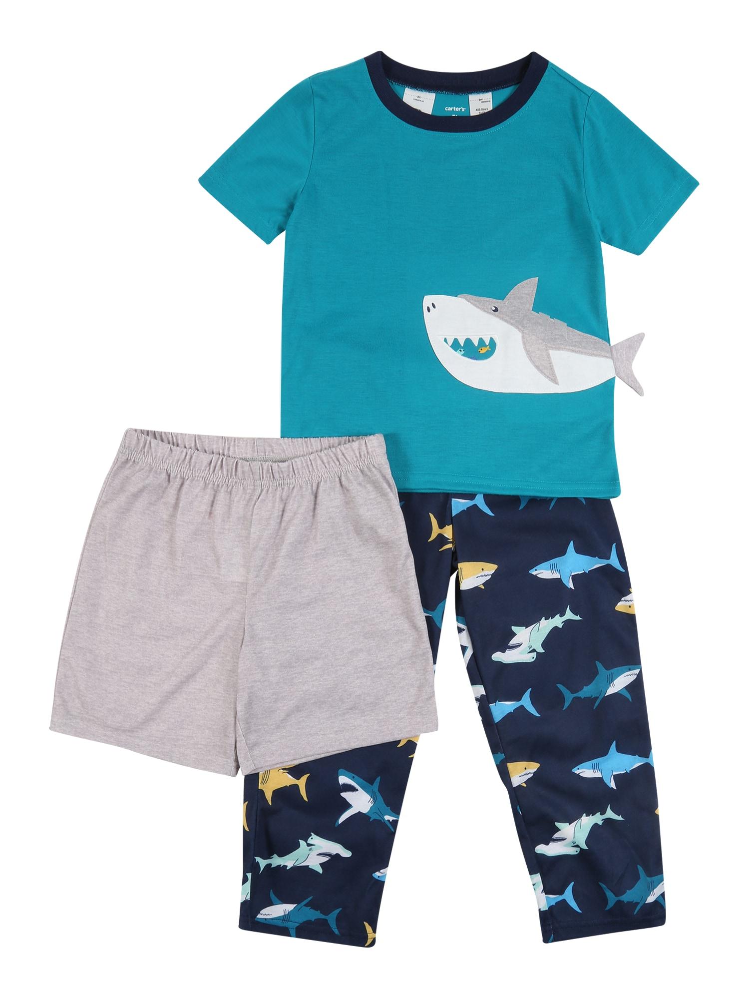 Carter's Rinkinys 'Poly Shark' nakties mėlyna / turkio spalva