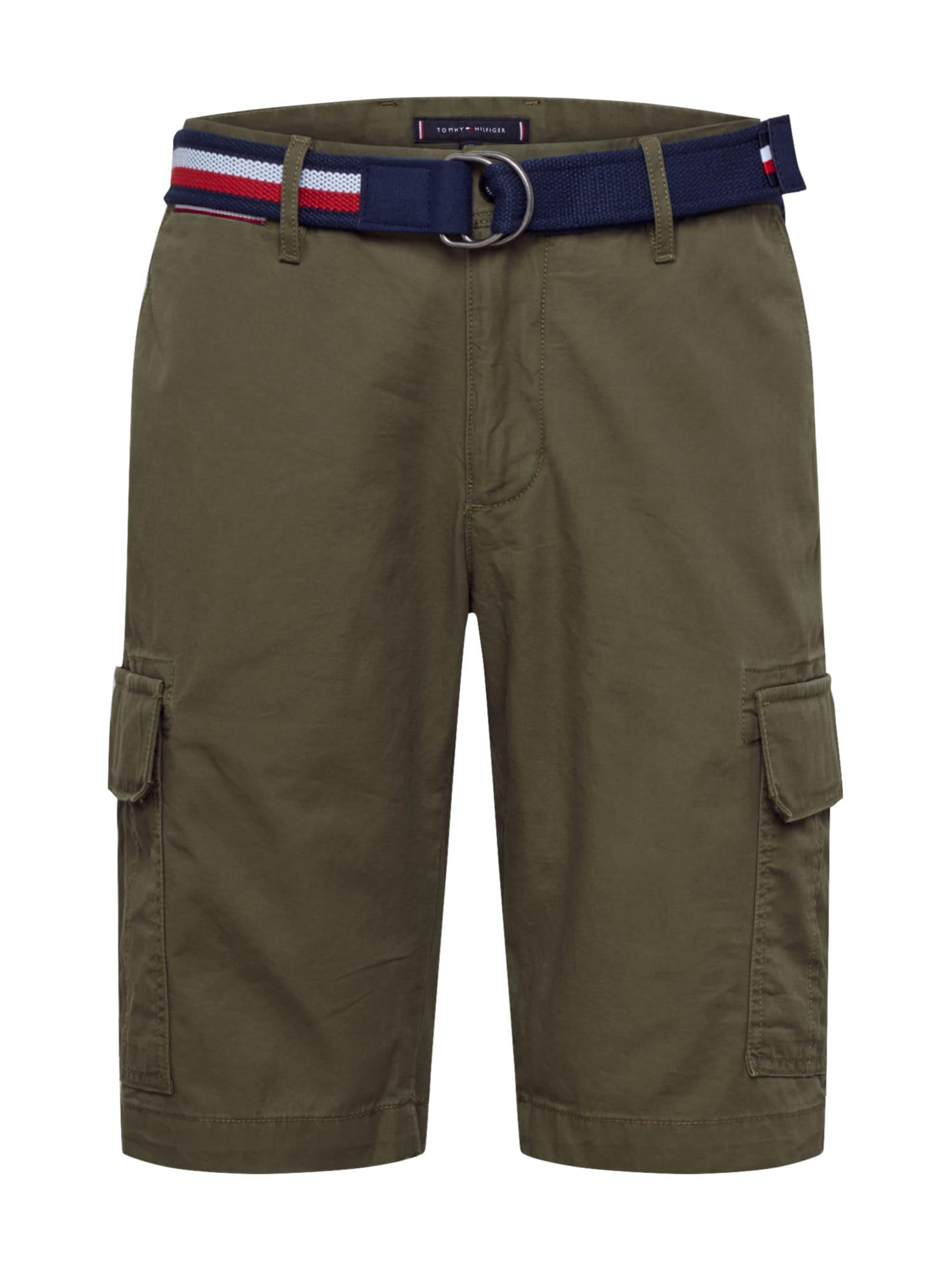 TOMMY HILFIGER Laisvo stiliaus kelnės 'John' rusvai žalia