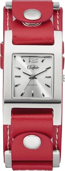 Uhren für Frauen - BUFFALO Quarzuhr (Set, 3 tlg.) rot schwarz silber weiß  - Onlineshop ABOUT YOU