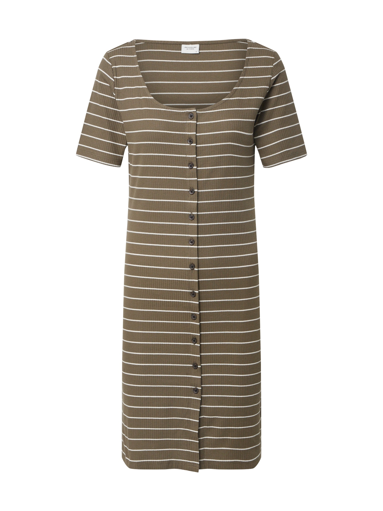 JACQUELINE de YONG Letné šaty 'NEVADA LIFE 0520'  olivová / biela