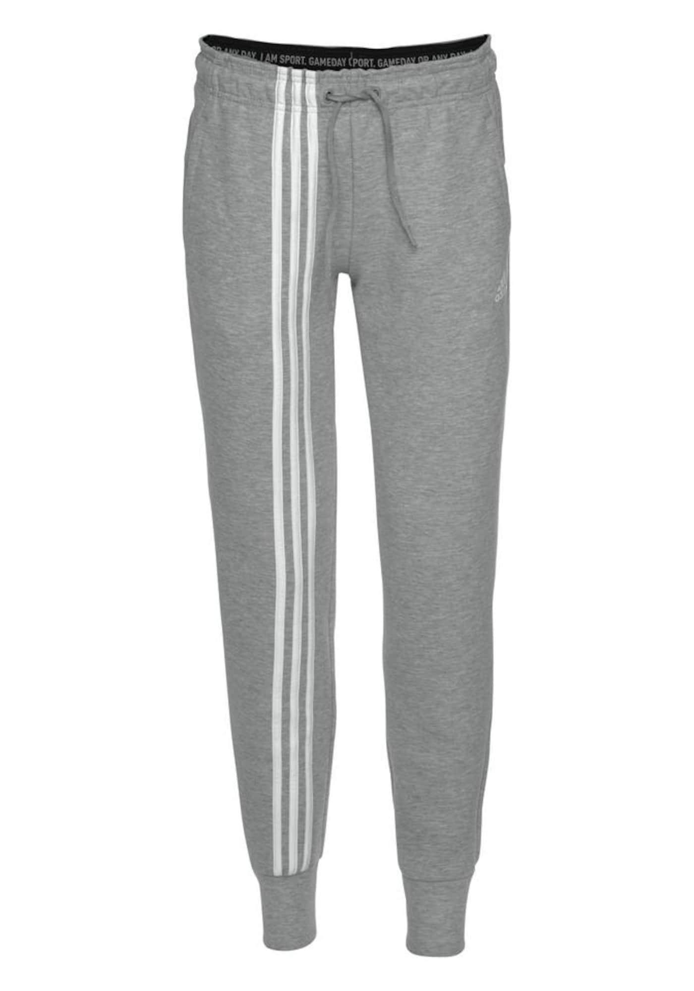 ADIDAS PERFORMANCE Sportinės kelnės 'Must Haves' margai pilka / balta