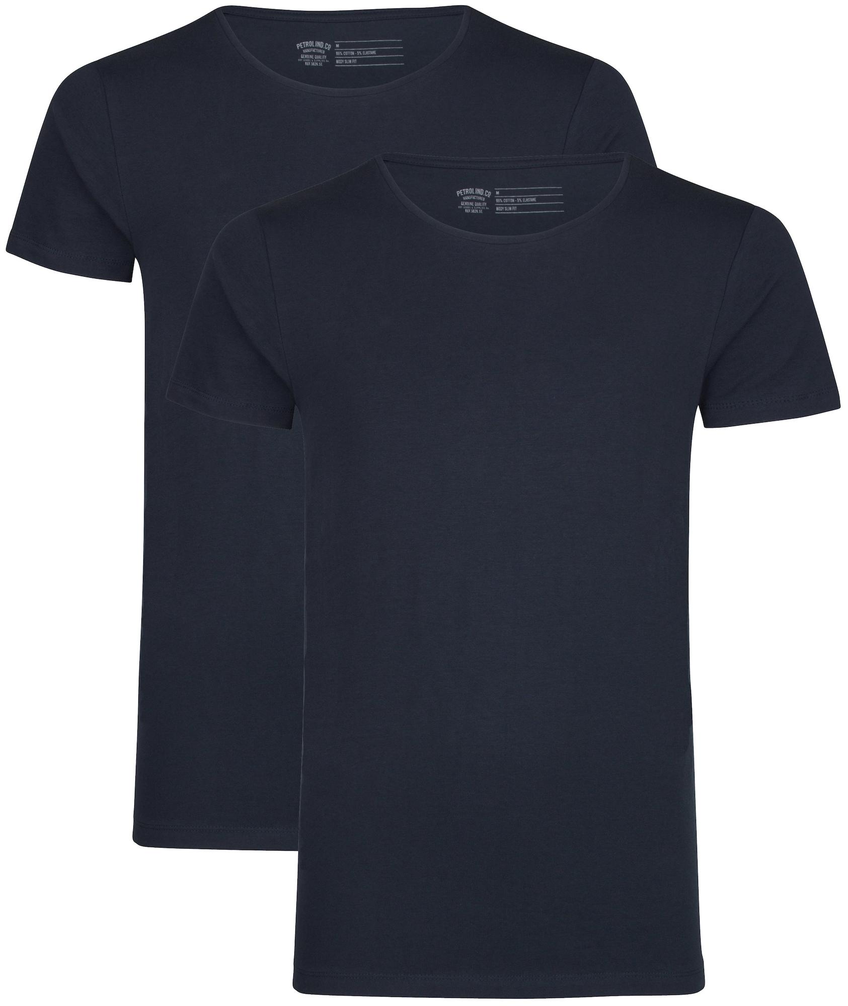 Petrol Industries Marškinėliai nakties mėlyna