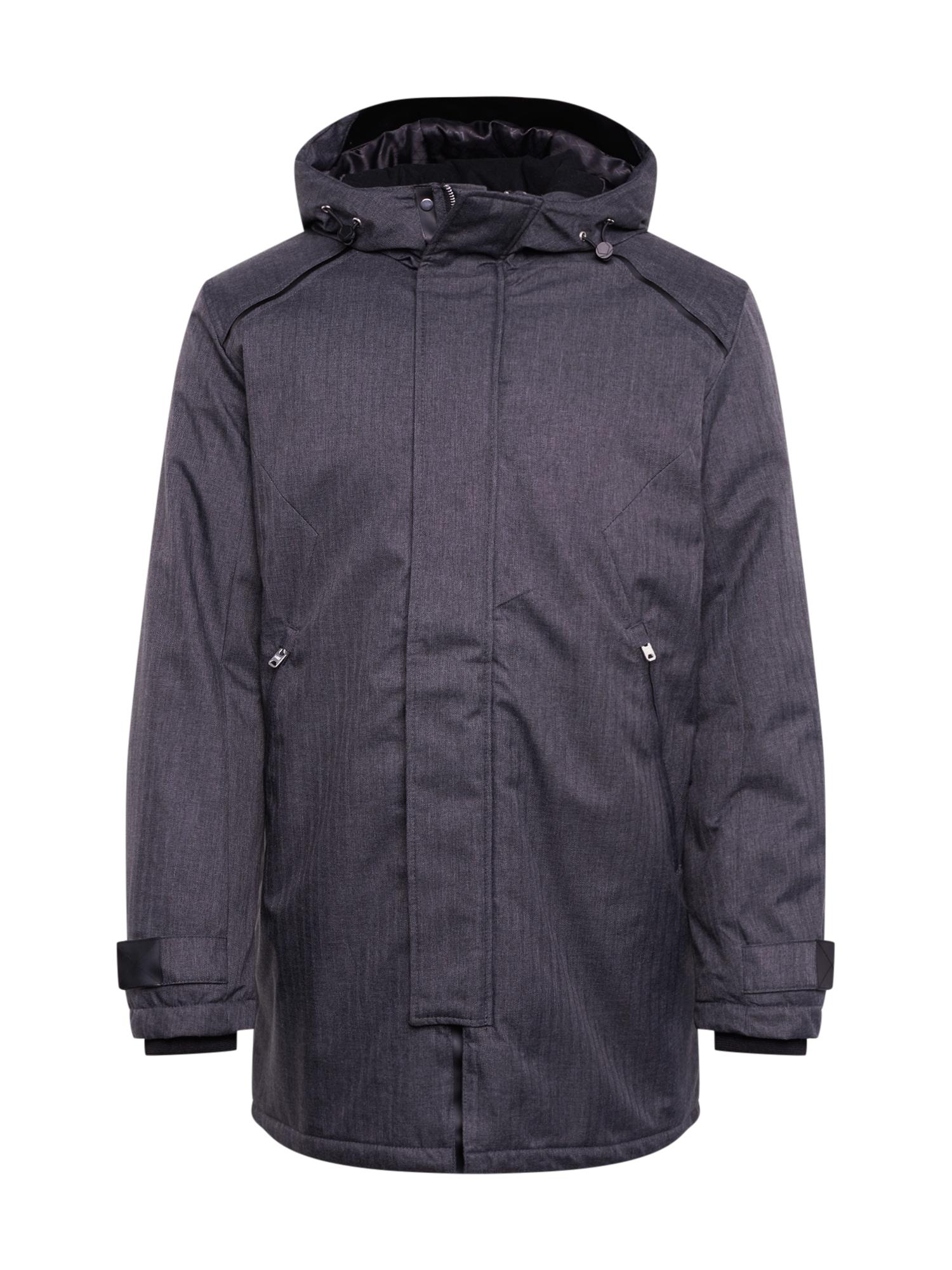 JACK & JONES Ilga rudeninė-žieminė striukė 'FIGURE STS' juoda