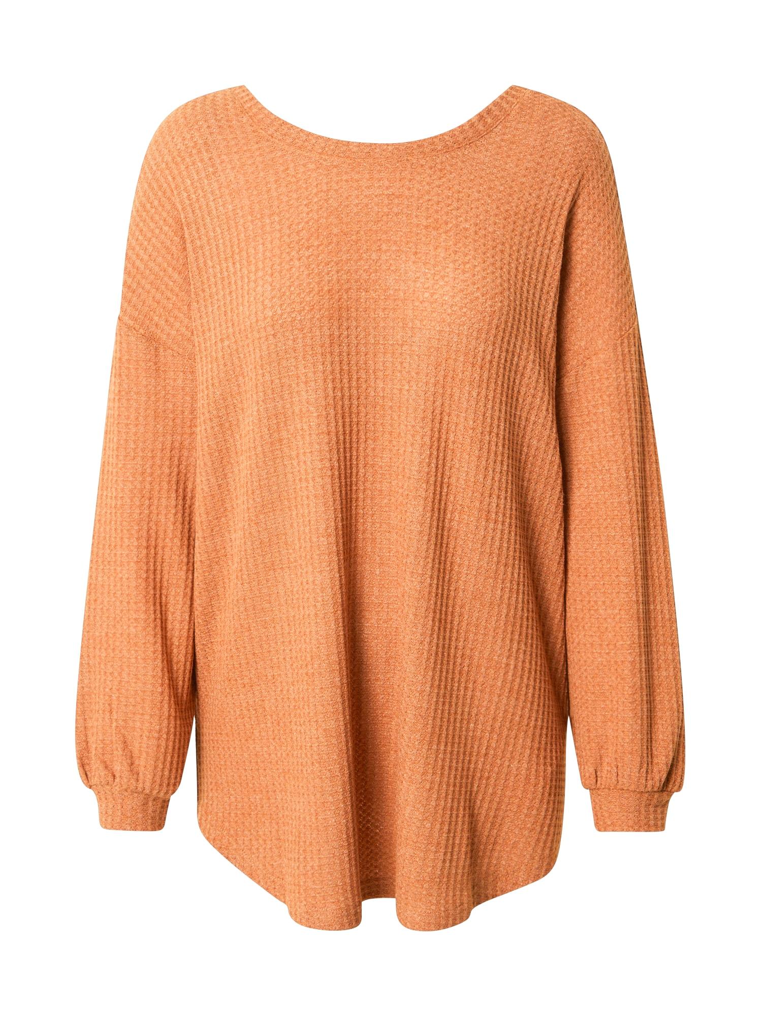 MINKPINK Marškinėliai ruda (konjako)