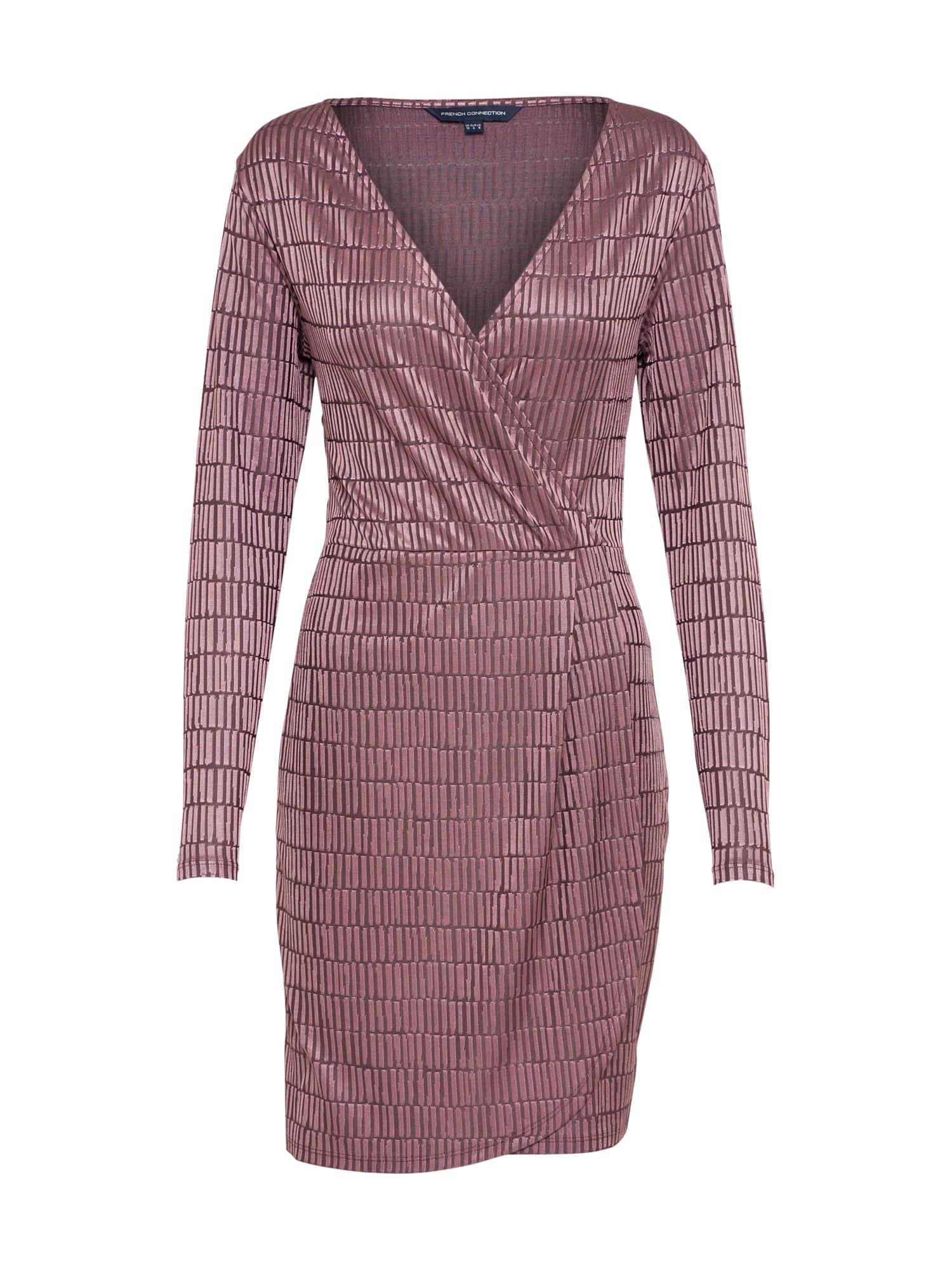 Koktejlové šaty Linear lilek FRENCH CONNECTION