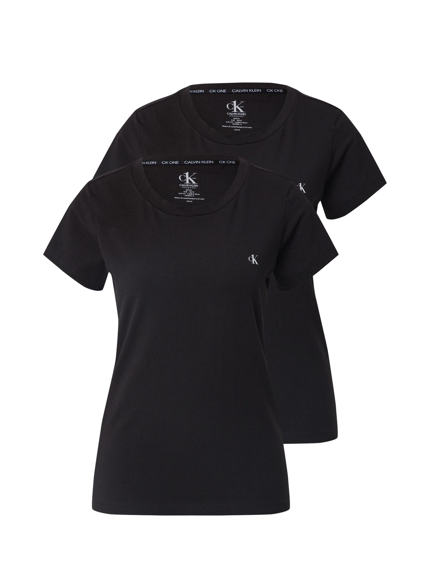 Calvin Klein Underwear Pižaminiai marškinėliai juoda