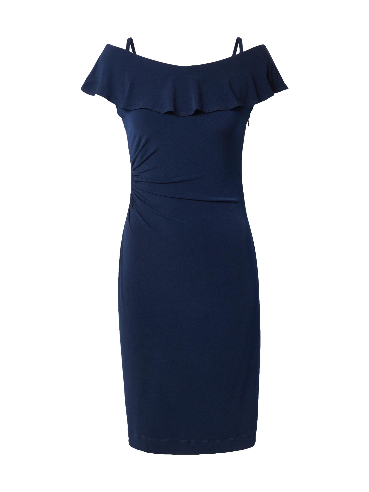 SWING Trumpa kokteilinė suknelė tamsiai mėlyna jūros spalva