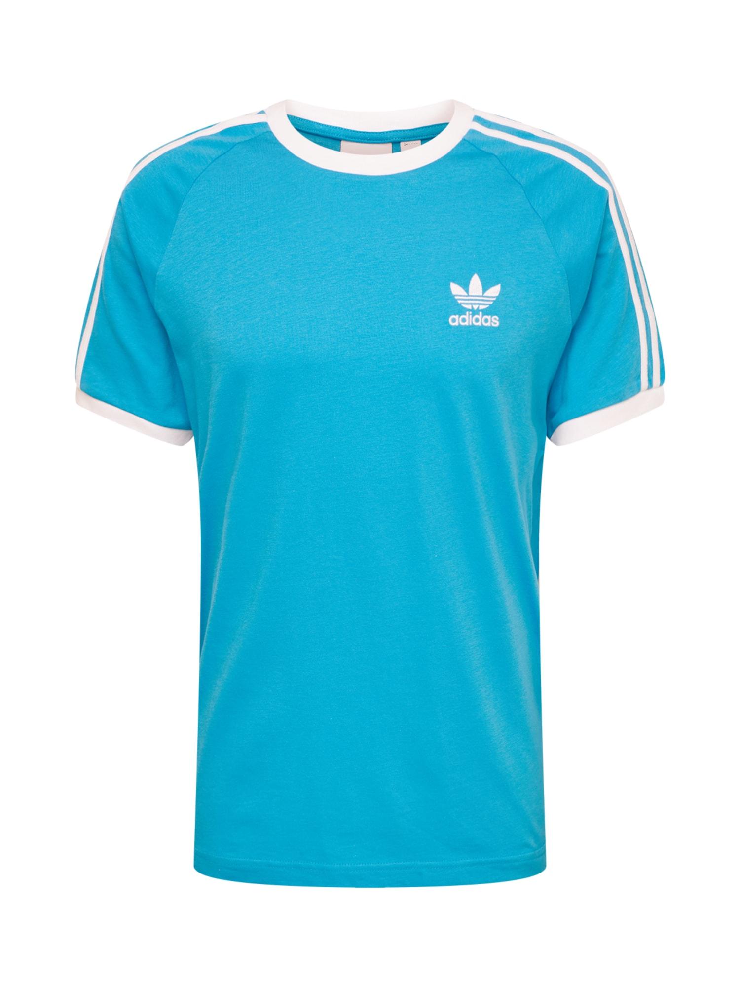 Tričko nebeská modř bílá ADIDAS ORIGINALS