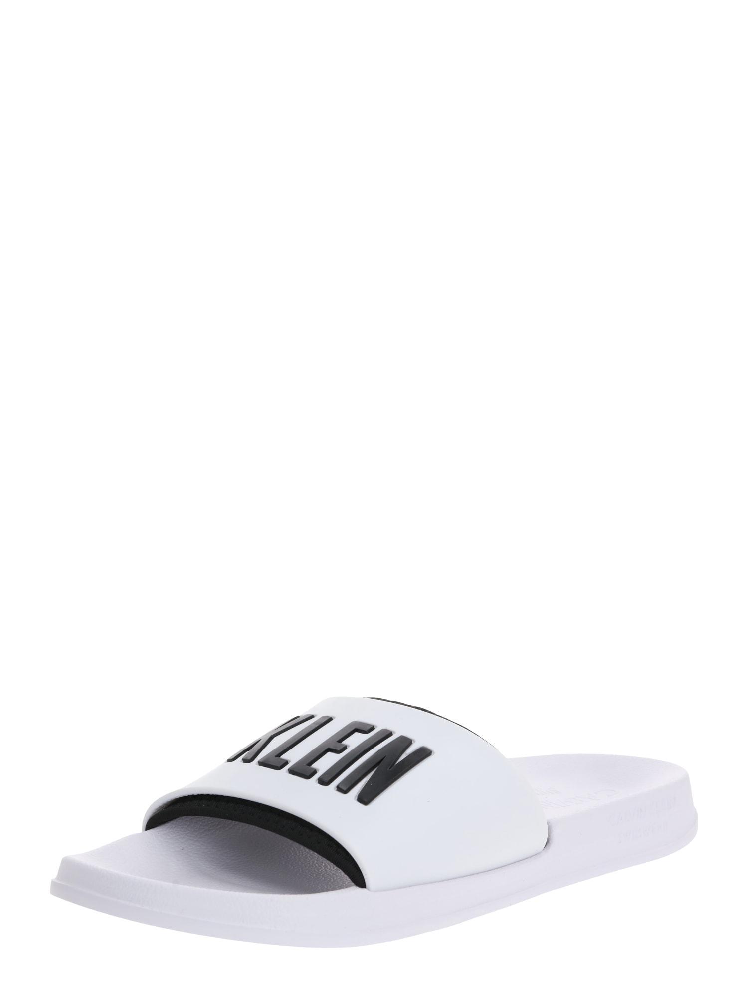 Calvin Klein Šľapky 'SLIDE'  biela