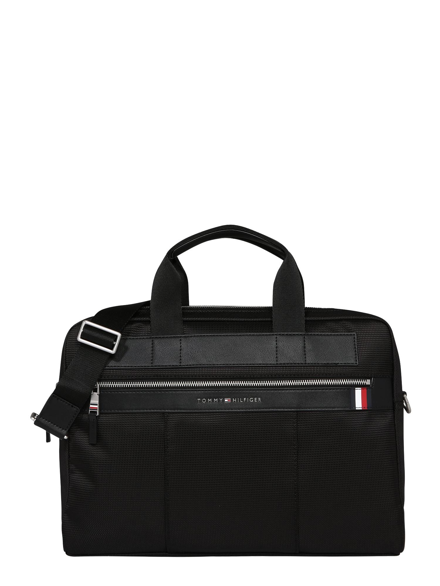 TOMMY HILFIGER Nešiojamojo kompiuterio krepšys 'ELEVATED NYLON COMPUTER BAG' juoda