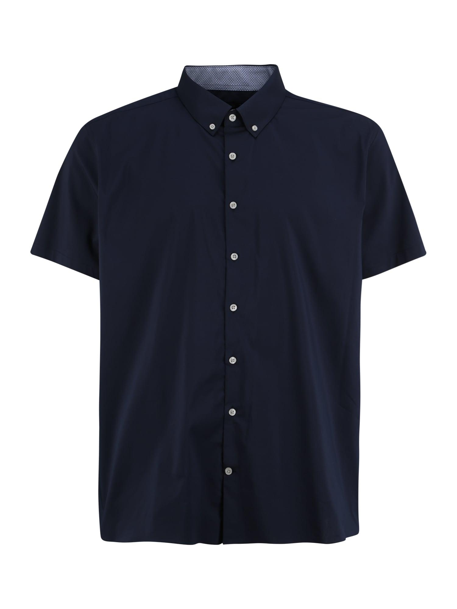 BURTON MENSWEAR LONDON (Big & Tall) Marškiniai tamsiai mėlyna