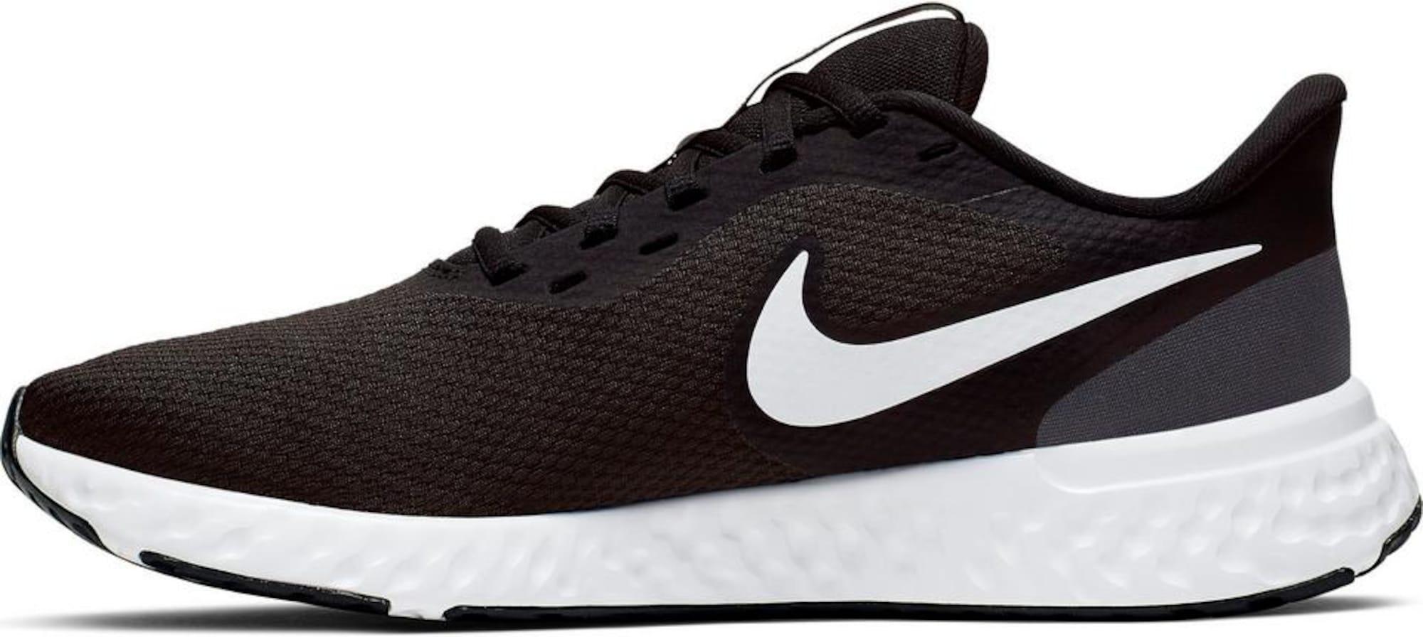 NIKE Bėgimo batai 'Revolution 5' juoda / balta