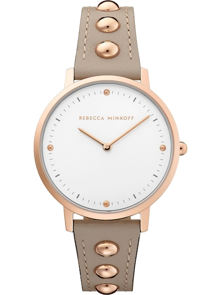 Uhren für Frauen - Rebecca Minkoff Damenuhr 'Major 2200322' taupe weiß  - Onlineshop ABOUT YOU