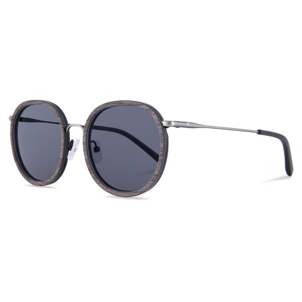 Sonnenbrillen für Frauen - Kerbholz Sonnenbrille 'Jakob' braunmeliert dunkelgrau silber  - Onlineshop ABOUT YOU