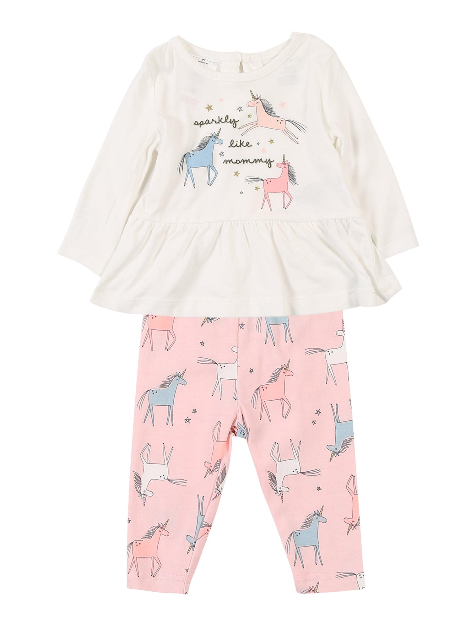 Carters Pyžamo Core Sets 1 F19 unicorn LS set růžová bílá Carter's