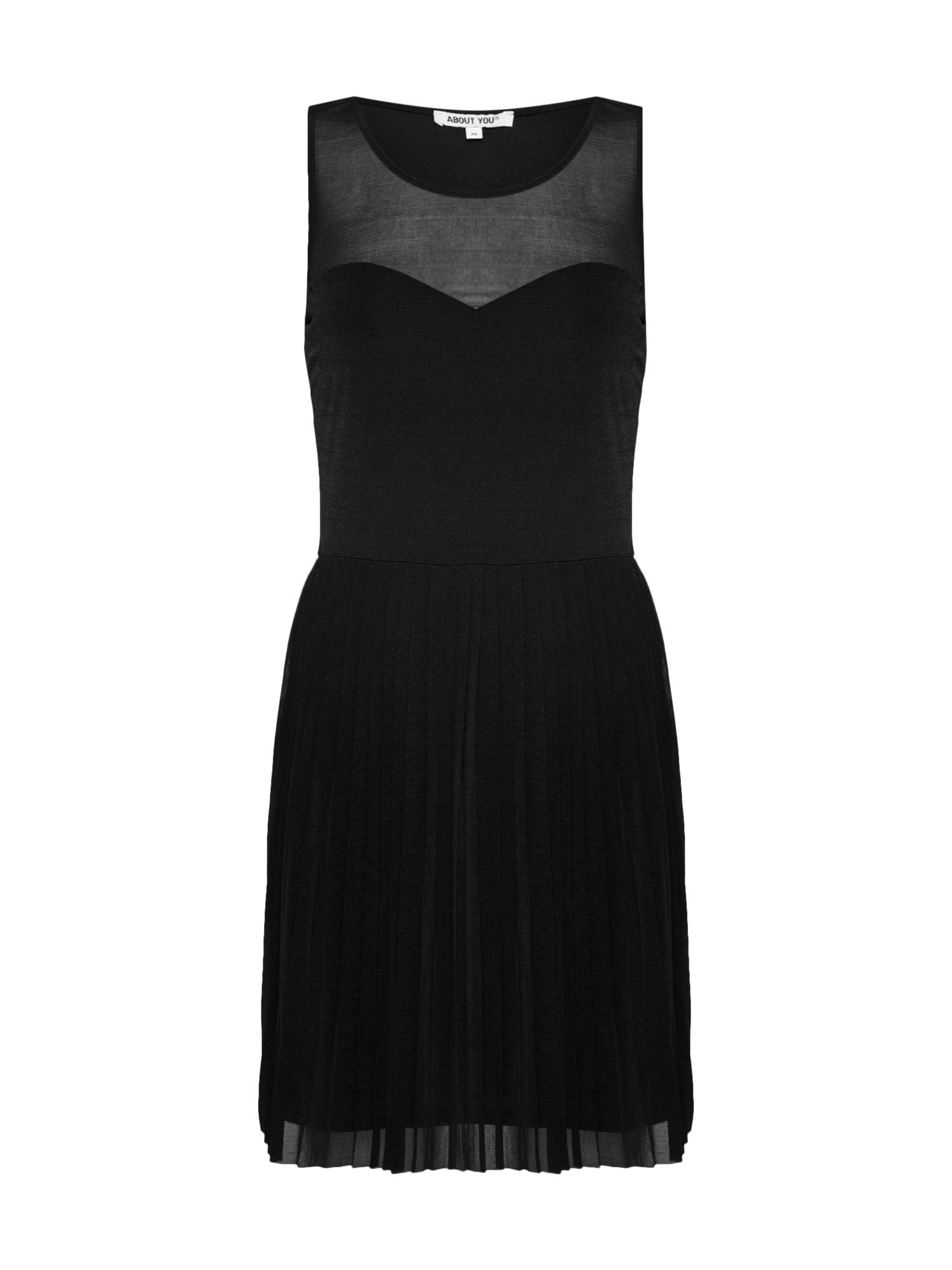Šaty Linea černá ABOUT YOU