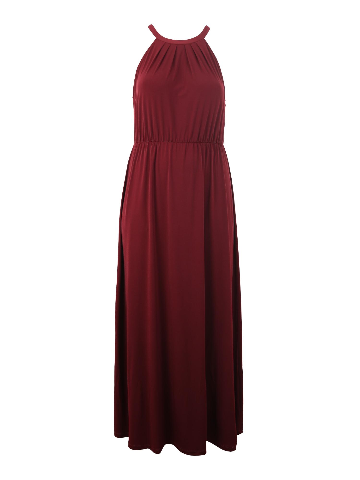 ABOUT YOU Curvy Vakarinė suknelė 'Cathleen' vyno raudona spalva