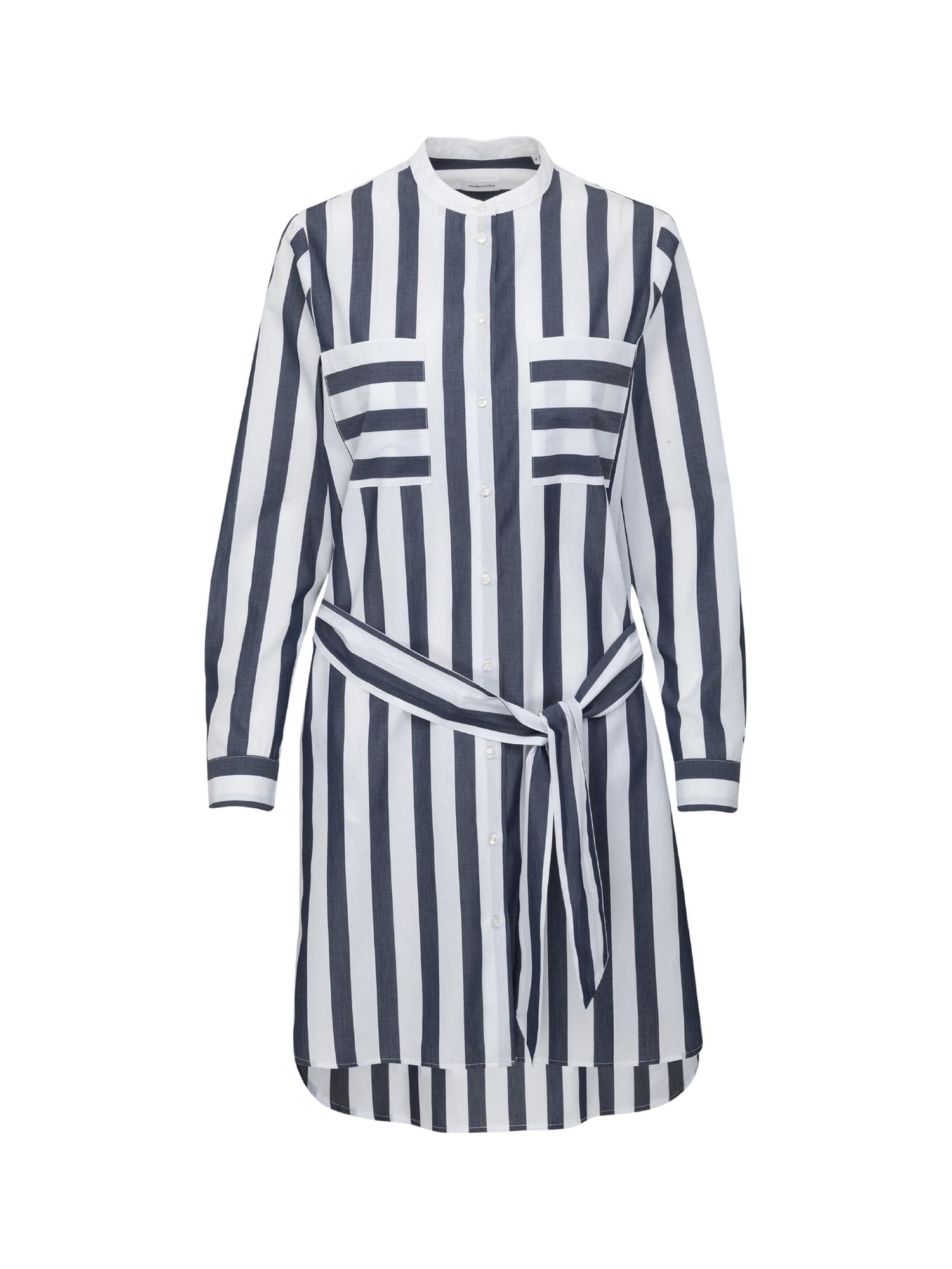 Košilové šaty WASHER modrá bílá SEIDENSTICKER