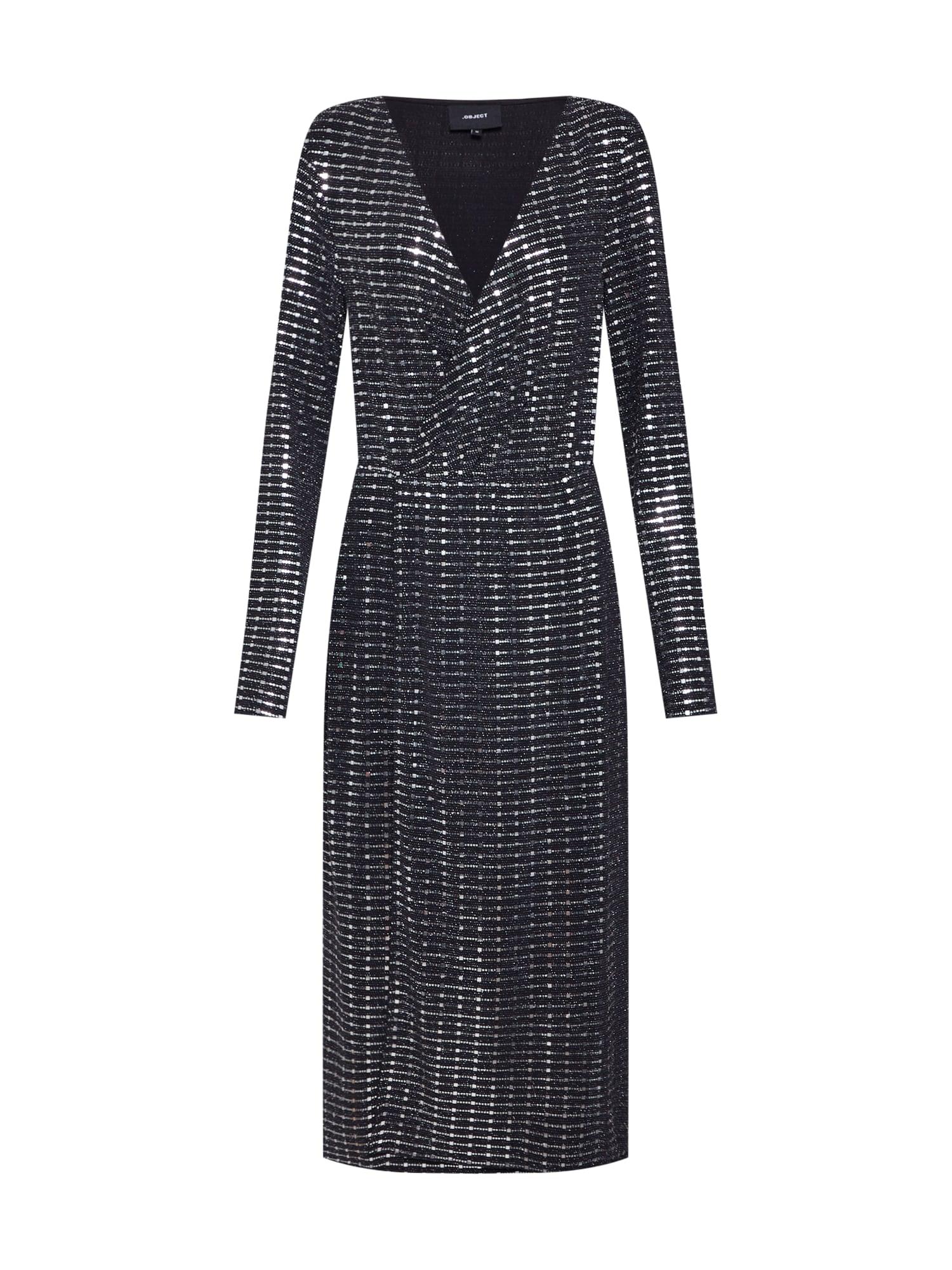 OBJECT Trumpa kokteilinė suknelė 'SOLA' juoda