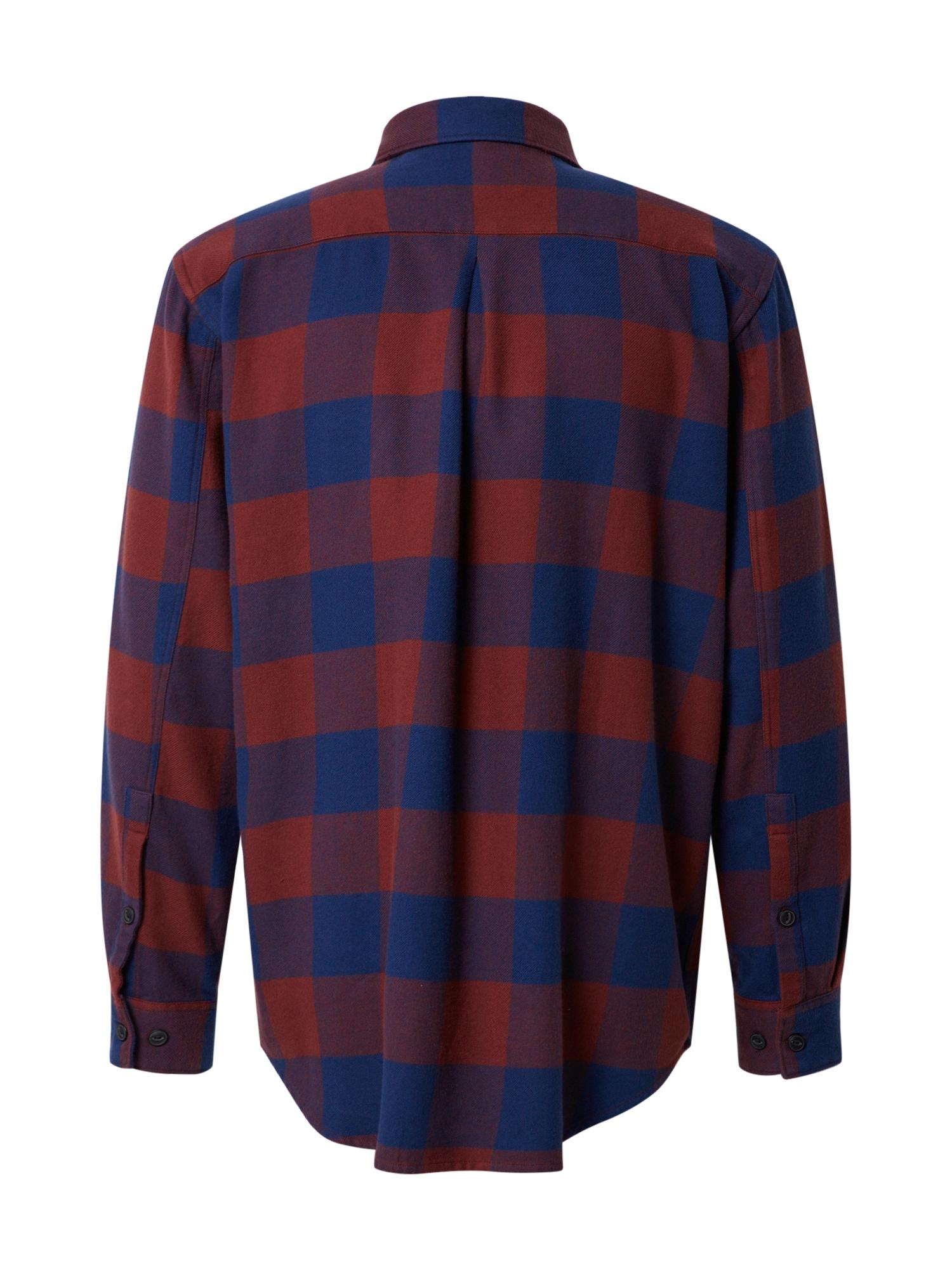 Nudie Jeans Co Skjorta 'Gabriel Buffalo Check'  marinblå / röd