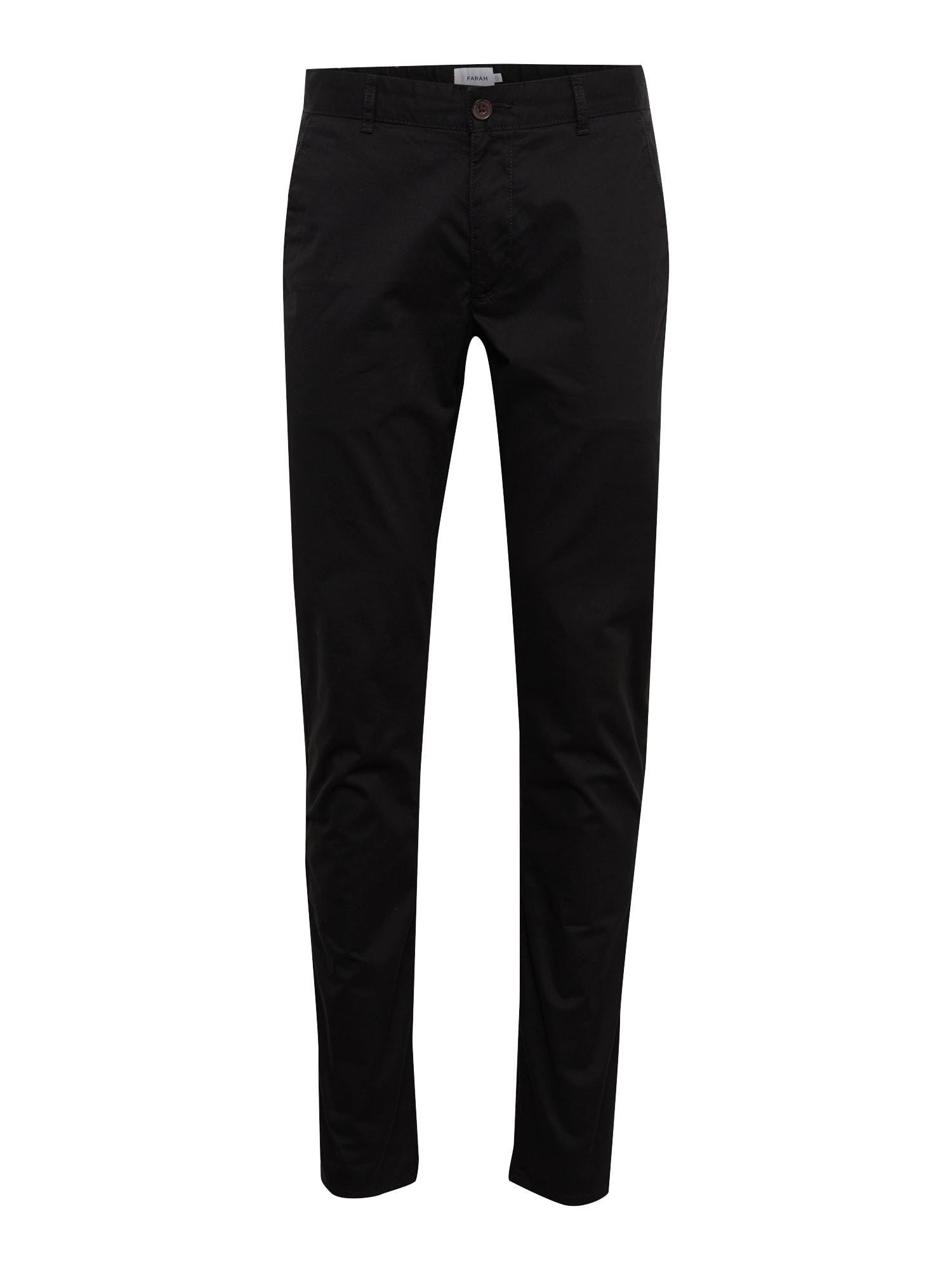 Chino kalhoty ELM černá FARAH