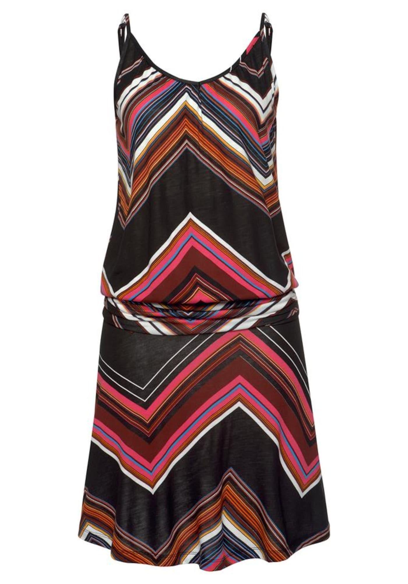 LASCANA Paplūdimio suknelė mišrios spalvos / juoda
