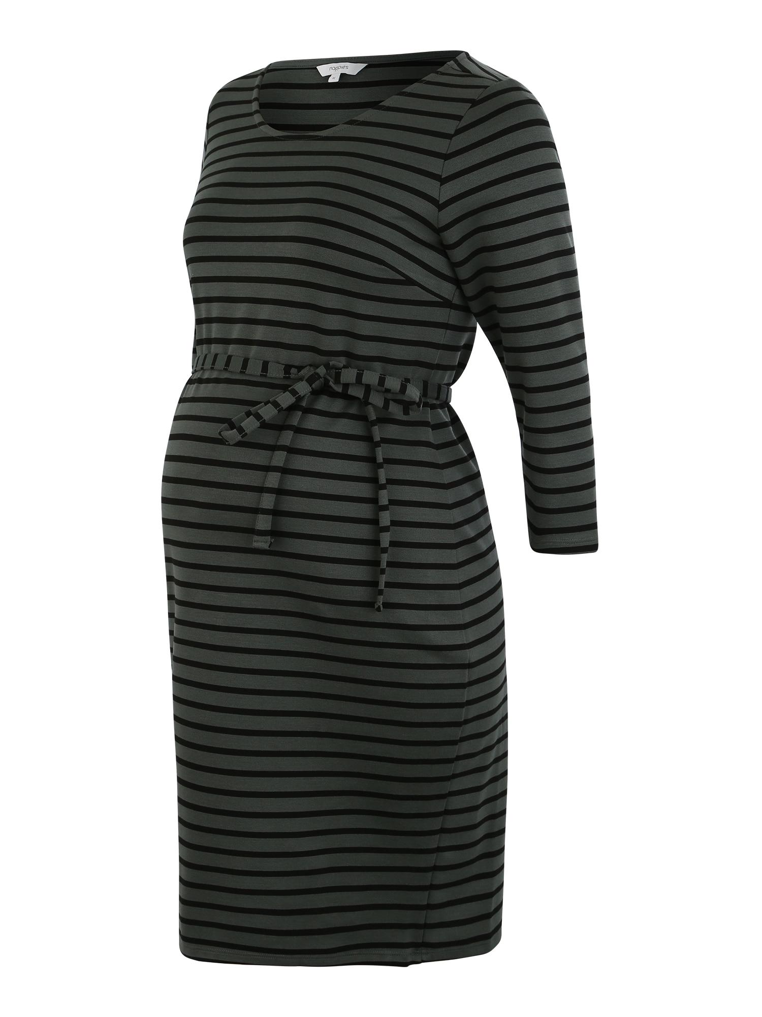 Noppies Šaty 'Paris'  sivá / čierna