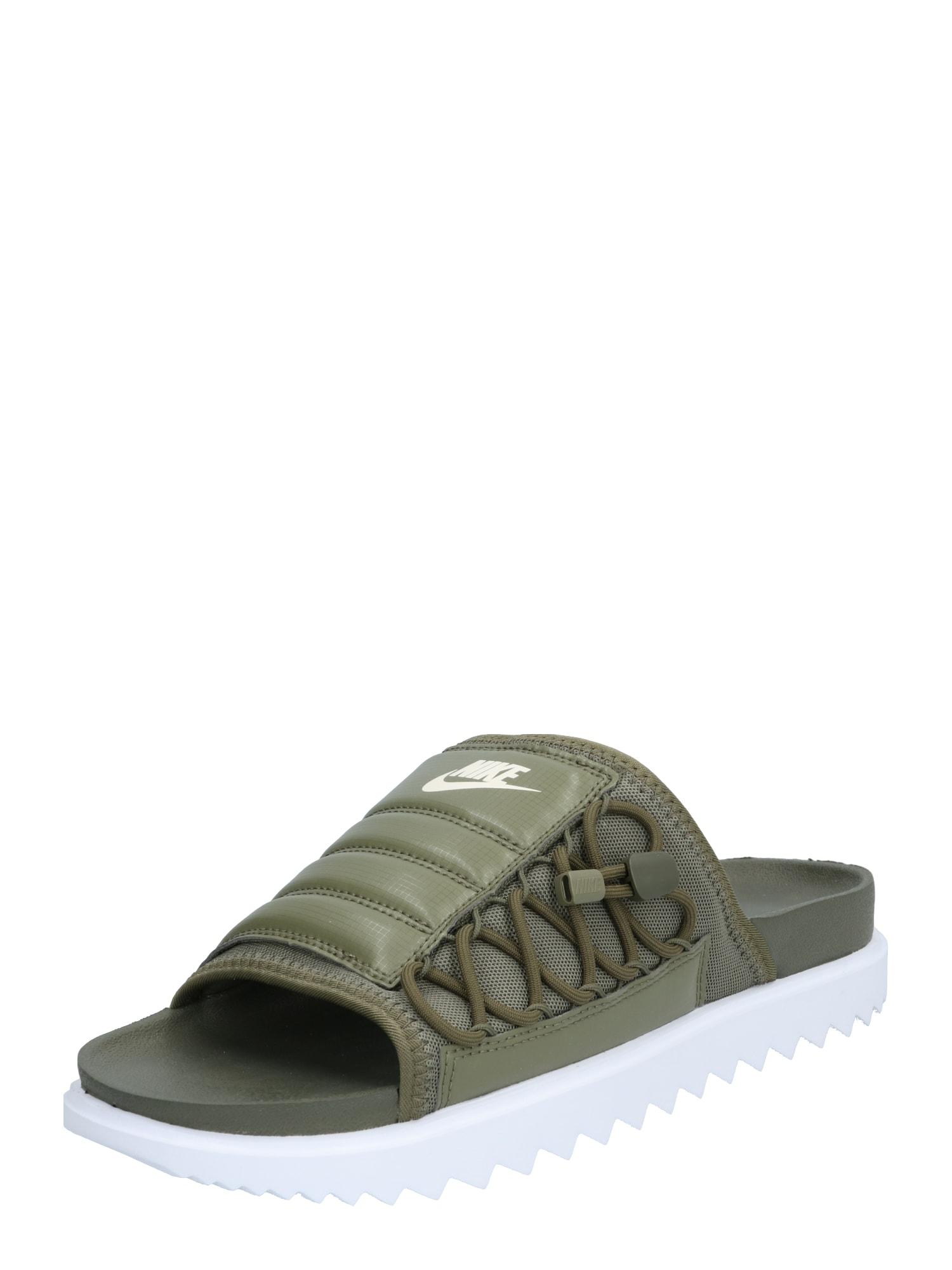 Nike Sportswear Šľapky 'City Slide'  biela / kaki
