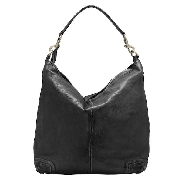Schultertaschen für Frauen - Campomaggi Schultertasche 'London' 34 cm schwarz  - Onlineshop ABOUT YOU
