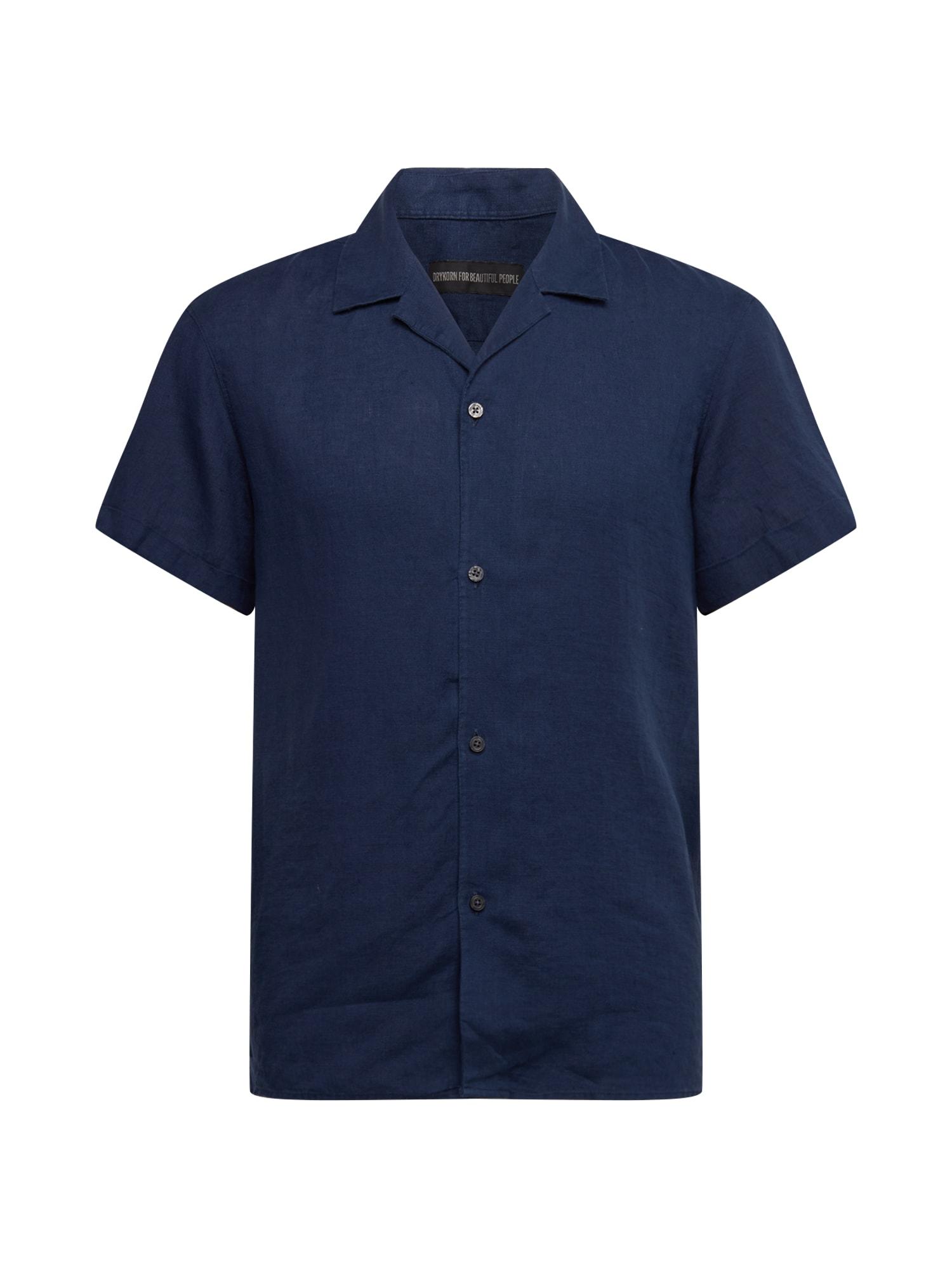 DRYKORN Dalykiniai marškiniai 'Bijan' tamsiai mėlyna