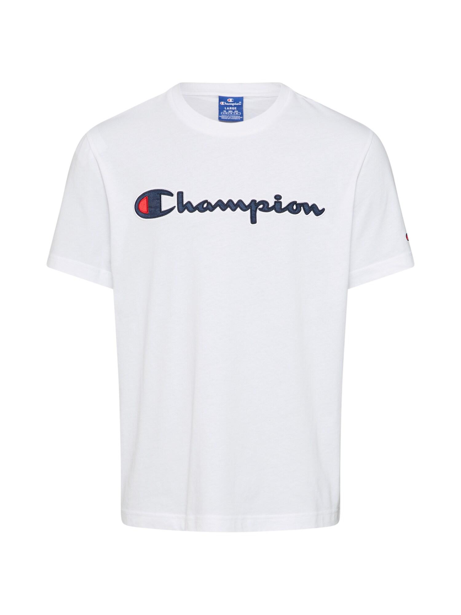 Champion Authentic Athletic Apparel Marškinėliai 'Crewneck T-Shirt' balta